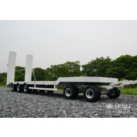 1/14 Full metal low loader semi-trailer with dolly